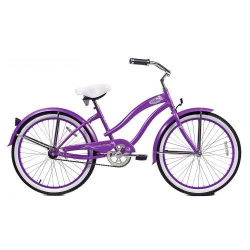 Micargi Rover Beach Cruiser Bike, Purple, 24-Inch