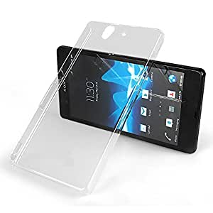 2010kharido Crystal Clear Transparent Hard Back Case Cover for Sony Xperia Z C6602