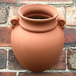 Terracotta hanging urn wall pot garden - Jarre pot de fleur ...