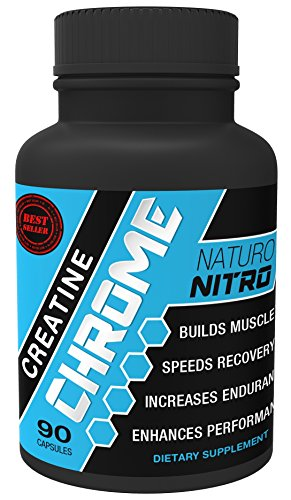 Naturo Nitro Creatine Chrome with Magnapower™ - Rapid Muscle Gain, Increased Muscle ATP and Cell Volumization, 90ct, 30 Day Supply (Gym Angel Energy Angel compare prices)