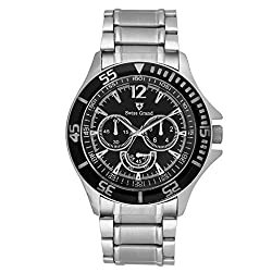 Swiss Grand Analog Black Dial Mens Watch- SG-0810