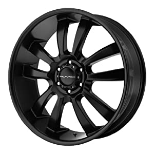 KMC KM673 18×8 Black Wheel / Rim 6×135 with a 35mm Offset and a 87.10 Hub Bore. Partnumber KM67388063735