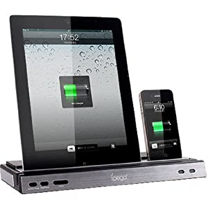 DOCKING STATION Charger, Speaker & Stand With Dual Charger Adapter for iPad 2 3 New and iPhone 4G 4S - UKDigitalBay