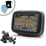 514Whzuhg L. SL160  Waterproof Handlebar Bike and Motorcycle Mount for 4.3 Garmin Nuvi / TomTom / Magellan GPS Navigator Systems ** Includes Accessory Bag and Micro Fiber Cloth**