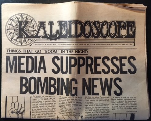 Kaleidoscope, vol. 3, no. 13 (whole no. 74) (November 6, 1970, Milwaukee): Media Suppresses Bombing News (Oster 74 compare prices)