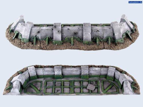 28mm Sci-Fi Terrain: Battlefield Low Fortifications Set #1 (3)