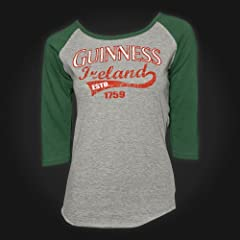 Guinness Gray Green Ireland Ladies Tee