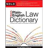 Nolo's Plain-English Law Dictionary ~ Gerald Hill