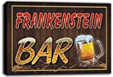 scw3-055643 FRANKENSTEIN Name Home Bar Pub Beer Mugs Stretched Canvas Print Sign