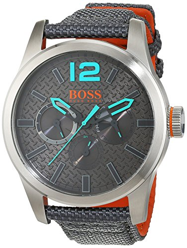 Boss Orange Men's Watch Paris Analog Quartz Fabric 1513379