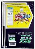ゴルフコンペ用フラッグ 5回使用出来るラベル付 ニアピン・ドラコン共用 Aタイプ 2本入り