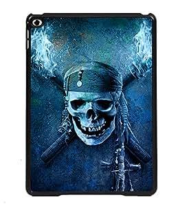 PRINTVISA dangers Symbol Premium Metallic Insert Back Case Cover for Apple IPad Air - D6043
