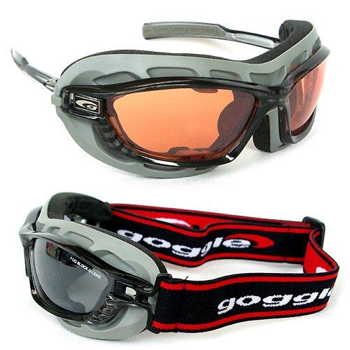 Goggle Multisportbrille Skibrille Sportbrille + Wechselgläser + Bügel / Band System