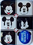 Mickey Mouse Collectable Cotton Swab Tin ~ 6 Faces ~ Expressions