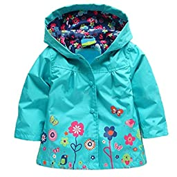 Arshiner Girl Baby Kid Waterproof Hooded Coat Jacket Outwear Raincoat Hoodies 2-6Y