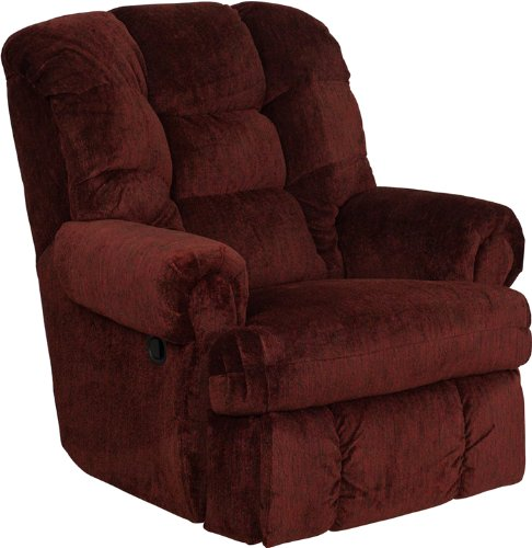 Flash Furniture AM-9930-1453-GG Contemporary Boone Chianti Chenille Big Man Recliner, Red