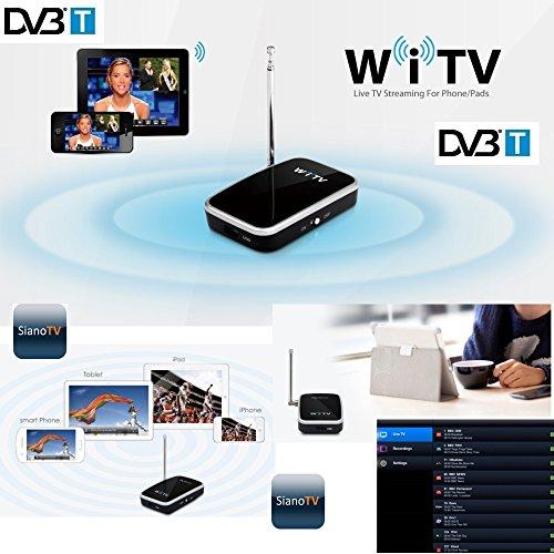 WiFi TV DVB-T WiTV Decoder Ricevitore Digitale Terrestre WiFi per Smartphone Tablet Android iPhone iPad iOS