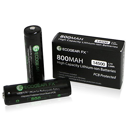 ecogear-fx-14500-800mah-rechargeable-lithium-ion-batteries-2-pieces-with-protection-circuit-board-pc