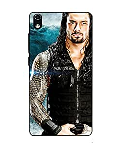 Case Cover Roman Reigns Printed Blue Soft Back Cover For LYF WATER 6