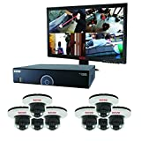 REVO America R165D8GM21-2TW 16 CH 2 TB DVR Surveillance System with 8 700TVL Dome Cameras and Monitor (Grey)