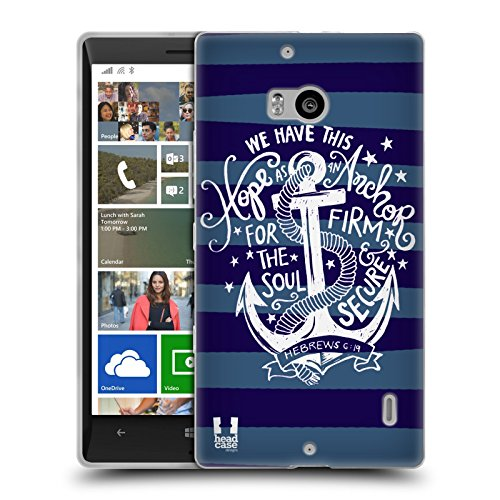 Head Case Designs Speranza Ancorati Cover Morbida In Gel Per Nokia Lumia Icon / 929 / 930