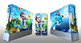 Skin Sticker Cover Decal Protector for Wii Console and 2 Remote skins Super Mario Galaxy 219