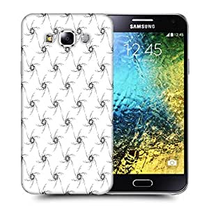 Snoogg Black Small Stars Printed Protective Phone Back Case Cover ForSamsung Galaxy E5