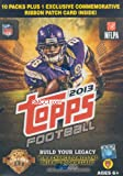 2013 Topps NFL Football Series Unopened Blaster Box of 10 Packs plus One Bonus Commemorative Card