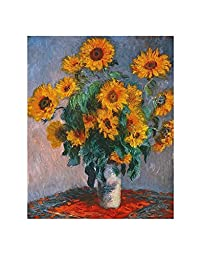 Vase of Sunflowers Art Print by Claude Monet 11 x 14in