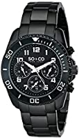SO&CO New York Men's 5029.3 Yacht Club Analog Display Quartz Black Watch from SO&CO MFG