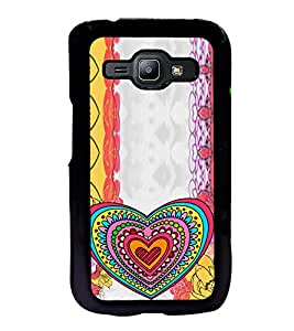 ifasho Modern Art Design Pattern with Heart and design colorful Back Case Cover for Samsung J1