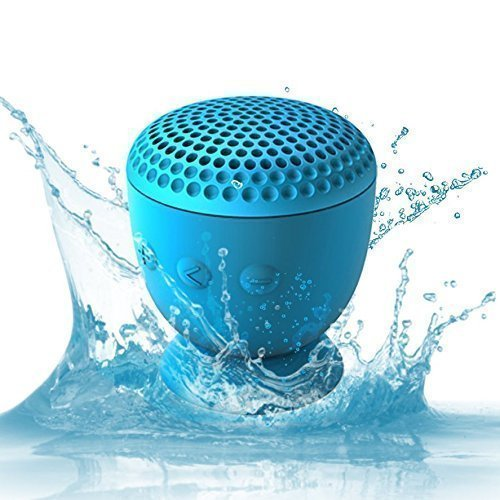 Whitelabel Drop Hi-Fi senza fili Altoparlante Bluetooth 4.0 - Potente Altoparlante Portatile Senza fili -design resistente all'acqua unica con ventosa - Compatibile con iPhone 4/4s/5/5c/5s iPad Galaxy S4/S3 Nota3 / 2 HTC telefoni o altri dispositivi abilitati Bluetooth (Drop Blu)