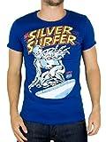 Logoshirt Men's Marvel Silver Surfer T-Shirt, Blue