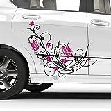 Stickers Fleurs et Papillons 15 x 12 cm - Deco Soon