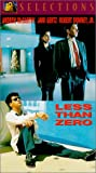 Less Than Zero VHS Tape