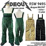 ∴スノーボード ウェア/ ビブ パンツ rideout(ライドアウト) dragon pants RSW9495 BLACK L 15-16 メンズ レディース オーバーオール