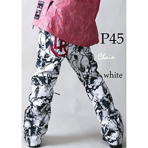 le-Rhythm(リアリズム) (XXL) 14-15ユニセックス レディース メンズ スノーボードウェア パンツ チェーンホワイト P45