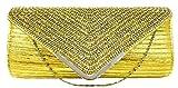 Di Classe's Womens Clutch (Golden)