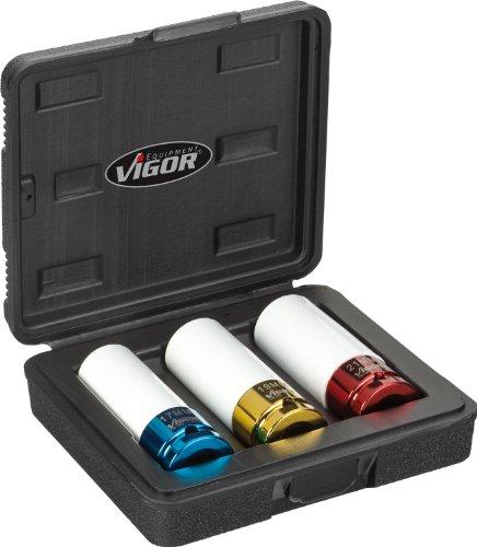"Vigor V2522 - Set di chiavi a bussola a pressione, 12,5 mm (1/2"")"
