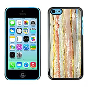 Omega Covers - Snap on Hard Back Case Cover Shell FOR Apple iPhone 5C - Watercolor Pastel Lines Tone Vertical
