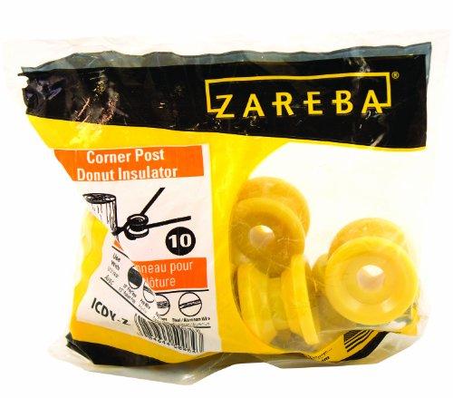 Woodstream Zareba Icdy-Z Zareba Corner Post Donut Insulator Yellow 10 /Pack