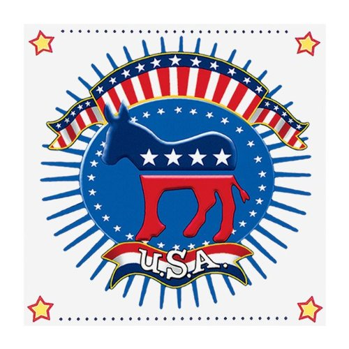 Election Time 3-Ply Lunch Napkins, Democrat