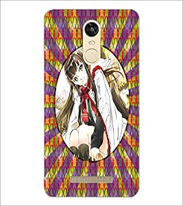 PrintDhaba Beautiful Girl D-3267 Back Case Cover for XIAOMI REDMI NOTE 3 (Multi-Coloured)