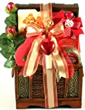 Be My Valentine | Gourmet Gift Basket of Cookies, Truffles, and Chocolate Roses