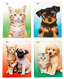 Cute School Supplies Bundle / Puppies & Kittens - 4 Laminated Folders