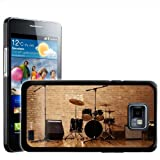 Fancy A Snuggle Warm Up Ready Drum Set and Amplifiers Design Hard Case Clip On Back Cover for Samsung Galaxy S2 i9100