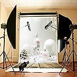 DODOING 5X7ft Christmas White Snowman Wooden Floor Photo Backdrops Customized Studio Photography Background Studio Props Vinyl