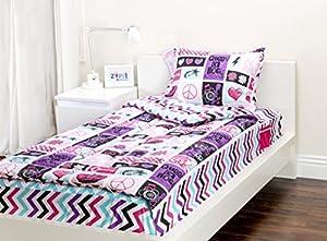 Amazon Com Zipit Bedding Set Rock Princess Twin Zip