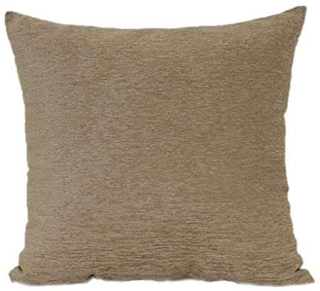 Brentwood 3438 Crown Chenille Floor Cushion, 24-Inch, Linen
