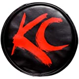 "KC HiLiTES 5110 6"" Round Black Vinyl Light Cover w/ Red KC Logo - Set of 2"